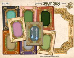 Printable JEWELRY HOLDERS Ornate Frame Display by pixelmarket