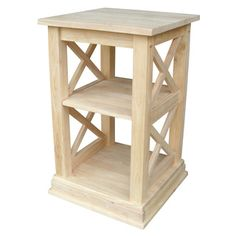 Shop for Hampton Unfinished Solid Parawood Accent Table. Get free shipping at…