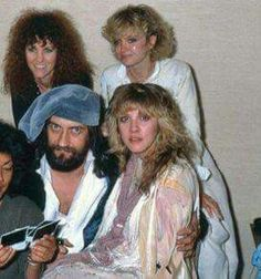 Mick Fleetwood and Stevie Nicks and company