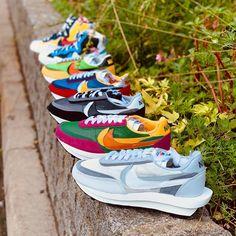 Sacai x Nike LDWaffle & Sacai x Nike Blazer Mid Collection Sneakers Fashion, Fashion Shoes, Shoes Sneakers, Rare Sneakers, Men Fashion, Jordan 1, Nike Waffle, Nike Blazer, Nike Shoes Air Force