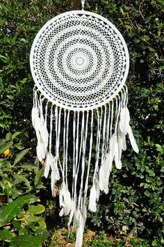 Big dreamcatcher, boho wall hanging large, boho wedding photo backdrop, large dream catcher, crochet dreamcatcher, bedroom wall hanging by beuniqueibiza on Etsy