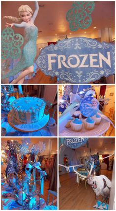 Great party ideas at this Disney Frozen girl birthday! | CatchMyParty.com #frozen #disney #princess #girlbirthday