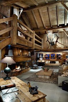 Most beautiful houses in the world: Rustic interior design