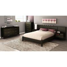 Found it at www.dcgstores.com - ♥ ♥ Gravity Ebony 4 Piece Queen Bedroom Set ♥ ♥