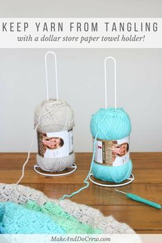 How to Corner to Corner Crochet Video Tutorial - All the Basics Yes! Use dollar store paper towel holders to keep yarn organized while knitting or crocheting. (Especially great DIY yarn holders for crochet! C2c Crochet, Crochet Videos, Crochet Crafts, Crochet Projects, Free Crochet, Crotchet, Diy Projects, Crochet Tools, Crochet Afghans