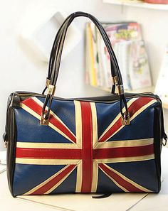 The Union Jack Print Handbag...even though we all know it's only the Union Jack if it's flying over a ship at sea.