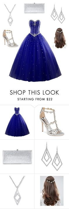 """""""Dreamy Dress"""" by strawberry-blonde16 ❤ liked on Polyvore featuring Badgley Mischka, Jimmy Choo, ABS by Allen Schwartz and ASOS"""