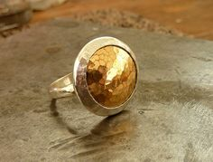 Gold and silver dome ring by anakim on Etsy, $92.00