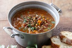 Here's a hearty Moroccan lamb soup to warm up your insides and fill you up!