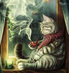 Smoking kittie