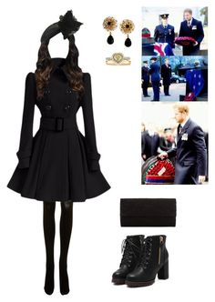 """""""Dawn service at the Wellington Arch and service at the Cenotaph for ANZAC Day"""" by duchessofoxfordshire ❤ liked on Polyvore featuring SPANX, John Lewis, JANE TAYLOR MILLINERY, Dolce&Gabbana, Elsa Peretti and Mark Broumand"""