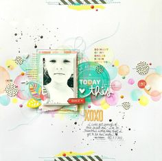 Guest Designer Layout for Freckled Fawn using the 2015 October Woodland Embellishment Kit