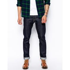 84566edae51 Levis Jeans 511 Premium Goods Slim Fit Selvedge Eternal Day ( 92) ❤ liked on