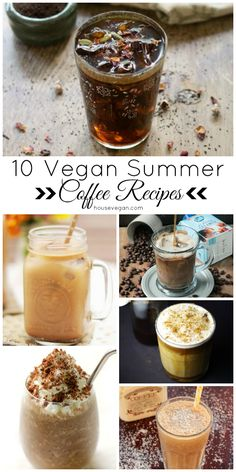 {Round-Up} 10 Vegan Summer Coffee Recipes - A summer coffee roundup featuring gorgeous vegan coffee recipes! If you love flavorful iced coffee, dairy-free cold brew, or vegan frappuccino recipes then this round-up is for you. Click here to check it out, or pin it for later <3