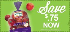New Printable Coupon for $.75 Off ONE Earthbound Farm Organic Product  http://ginaskokopelli.com/new-printable-coupon-for-75-off-one-earthbound-farm-organic-product/