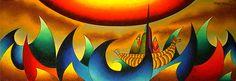 Son pinturas del excelente Mamani Mamani de Bolivia. - Buscar con Google