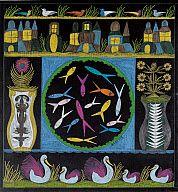Scottie Wilson (Scottish, 1891–1972)  Center Fish Circle on Black, ca. 1965  Colored ink on black paper  23 1/2 x 20 in. (59.69 x 50.8 cm