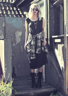 Weekday Dress, Dr. Martens Boots