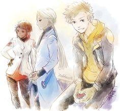 Pokemon Go   Team Leaders by zeldacw.tumblr.com