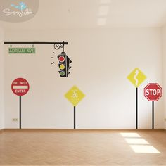 Red light! Green light! Turn your child's playroom into a busy city of imagination and excitement. Have your child's name put right on the street sign! The Traffic monogram is perfect for almost any kid, parent, or teacher.