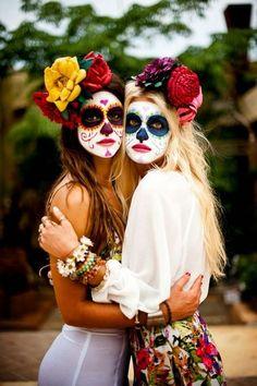 maquillaje catrinas mexicanas - Buscar con Google