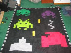 Space invaders quilt... who could ask for more?#geek #spaceinvaders