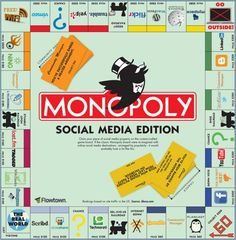 Monopoly: Social Media Edition - I totally geeked out when I saw this! I wish it was real. Social Media Trends, Social Media Plattformen, Social Networks, Social Media Marketing, Digital Marketing, Internet Marketing, Monopoly Funny, Monopoly Game, Google Plus