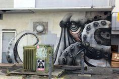 Street art in Honolulu, Hawaii (POW!WOW!), USA, by Puerto Rican street artist Anamarietta