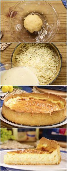 O MELHOR Quiche de Queijo DO MUNDO #queijo #quichedequeijo #massas #salgados