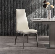 Ricky Dining Chair, taupe faux leather solid wood with oak veneer grey base Whiteline SKU Specifications: Color: Grey, Taupe Material: Faux Leather, Solid Wood Dimension: W x D x H ShippingIf in stock, item ships in 5 to 7 business days. Solid Wood Dining Chairs, Upholstered Dining Chairs, Dining Chair Set, Chair Upholstery, Dining Rooms, Comfortable Dining Chairs, Grey Chair, Modern Rustic Interiors, Home Furniture