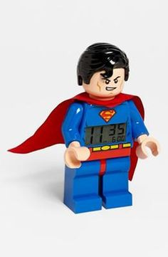 LEGO® 'Superman' Alarm Clock available at Batman Vs, Superman Love, Spiderman, Marvel Dc, Lego Marvel, Supergirl, Dc Universe, Harley Quinn, Lego Dc Comics