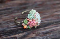 Succulent Cuff Corsage Bracelet - Live bulk wholesale succulent prices at the succulent source - 4