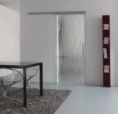 Porta de correr on pinterest sliding doors steel - Porte coulissante en verre opaque ...
