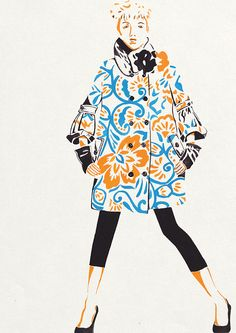 Fashion Illustration by Amy Marie, via Behance
