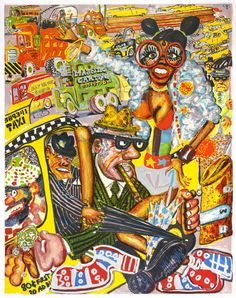 Taxi Pretzel, from No Gas, Red Grooms, 1971 | The Art Institute of Chicago