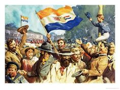 size: Giclee Print: Birth of the Union of South Africa by James Edwin Mcconnell : Artists News South Africa, Union Of South Africa, South African Flag, South African Air Force, African Union, African Flags, National Flag, African History, Art Music