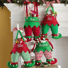 Santa won't have trouble finding these spectacular stockings to fill with treats and small gifts! With plenty of room to fill, each generously-sized stocking measures APPROX. 11Wx14-1/2Lx2D. Spot clean.  THESE MAY ARRIVE WITH WRINKLES AS THEY HAVE BEEN PRE-PACKAGED ONCE MADE. JUST IRON OUT AND STUFF UNTIL BODY WORKS ITSELF OUT!  This Price includes DOES NOT INCLUDE Personalization!  ***ONCE ORDERED REFUNDS WILL NOT BE GIVEN ON THIS ITEM GIVEN THE HIGH DEMAND OF THEM. THANK YOU FOR YOUR U...