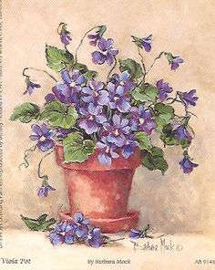 Violets by Barbara Mock    I think i have this in a framed print passed on to me.