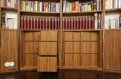 Private library in Hamburg, Germany  Design: Plan W GmbH, Norderstedt Photo: Heinrich Hermes, Berlin