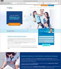 Refonte complète du site internet Excellia Finance Creation Site, Finance, Courtier, Finance Books, Economics