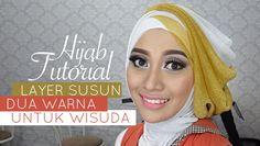 Tutorial Hijab Pesta atau Wisuda | Style Hijab Layer 2 Warna | # 1