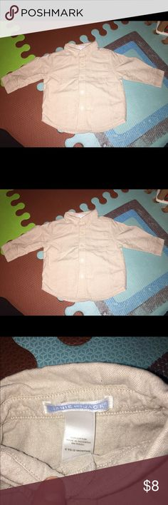Janie and Jack 6-12 month button down shirt Janie and Jack 6-12 month long sleeve button down shirt. Smoke free and pet free home. NEW! Janie and Jack Shirts & Tops Button Down Shirts