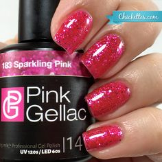 Pink Gellac #183 Sparkling Pink at Chickettes.com