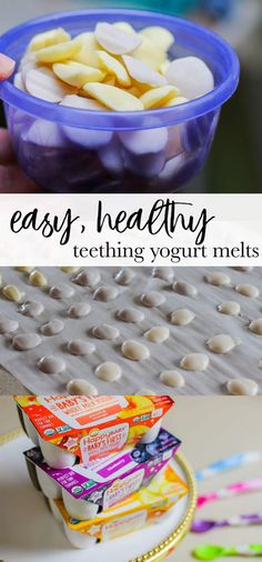 Easy, Healthy, Yogurt Melts for your Teething Baby