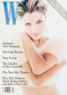 Helena Christensen on the cover of W Magazine August 1994