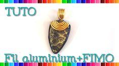 { Tuto } Bijoux fil aluminium et FIMO # 17