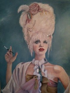 Courtney Love, Marie Antoinette by Korey Moran Still Love Her, All You Need Is Love, Courtney Love Hole, Kitsch Art, Blond, Girls Run The World, Baroque Art, Riot Grrrl, Doll Parts