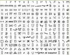 The Vinca Symbols (Source: Wikipedia) The Danube Valley Civilization script is the oldest writing in the world and predates the Sumerian Writings in Mesopotamia and the Dispilo Tablet. Ancient Alphabets, Ancient Scripts, Ancient Symbols, Ancient History, Mayan Symbols, Viking Symbols, Egyptian Symbols, Viking Runes, Texts
