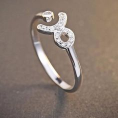 Taurus - 925 Sterling silver ring with zircon stone