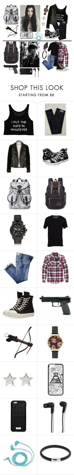 """""""Private zombie apocalypse rp-destiny and Thomas"""" by gglloyd ❤ liked on Polyvore featuring Dr. Denim, River Island, Converse, Candie's, Dolce&Gabbana, Grace, Retrofit, DRKSHDW, Olivia Burton and Givenchy"""